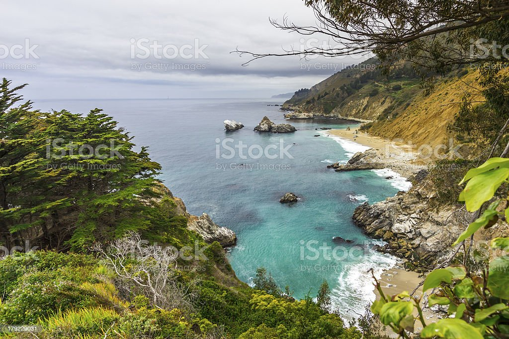 Pacific Coastline royalty-free stock photo