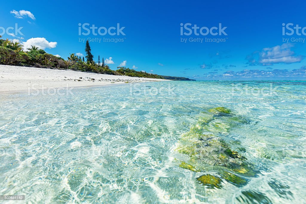 Pacific Dream Beach Nouvelle Calédonie New Caledonia stock photo