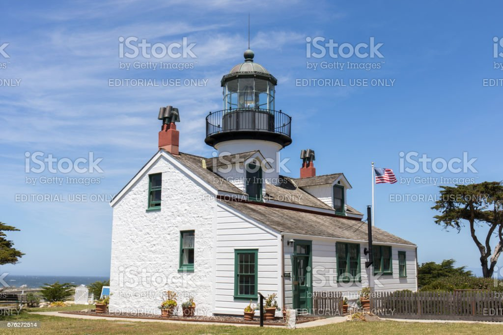 Pacific Grove, California, USA - April 28th, 2017: Point Pinos Lighthouse stock photo