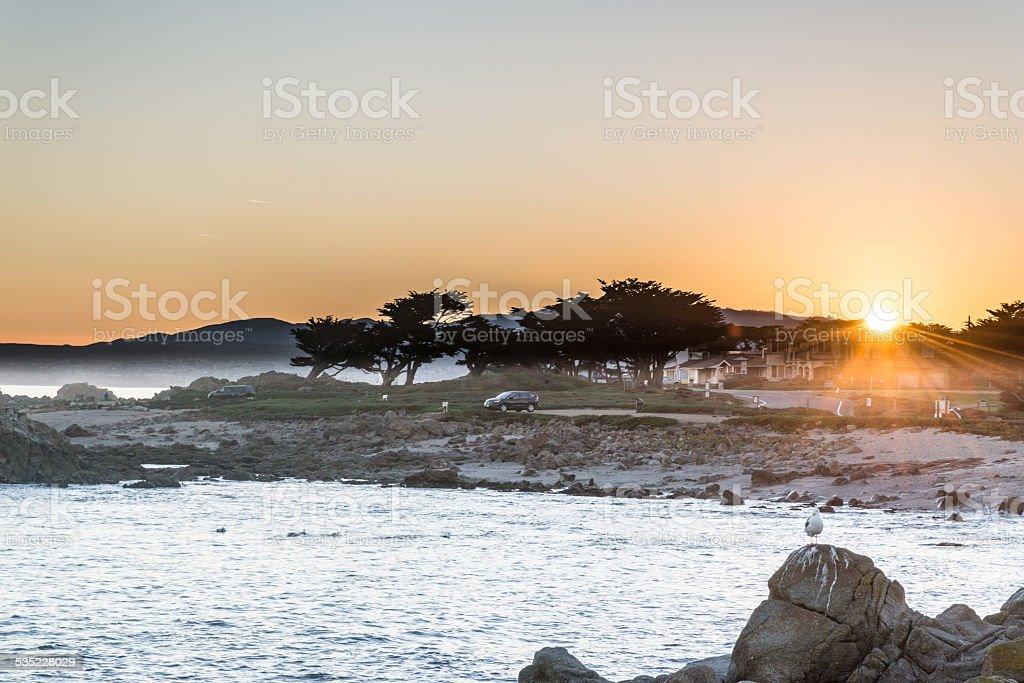 Pacific Grove Sunrise stock photo