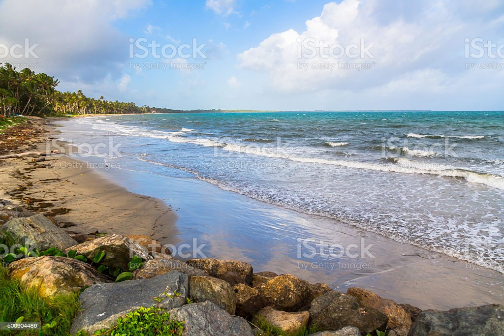 Pacific Harbor Beach stock photo