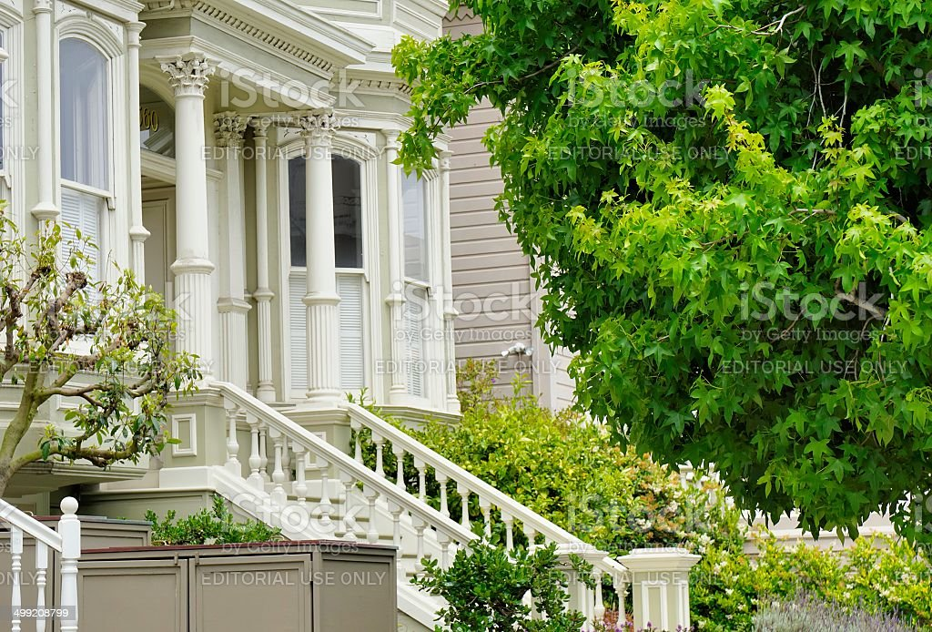 Pacific Heights, San Francisco Architecture stock photo