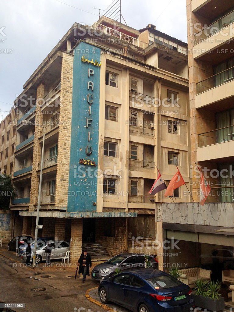 Pacific Hotel, Beirut, Lebanon stock photo