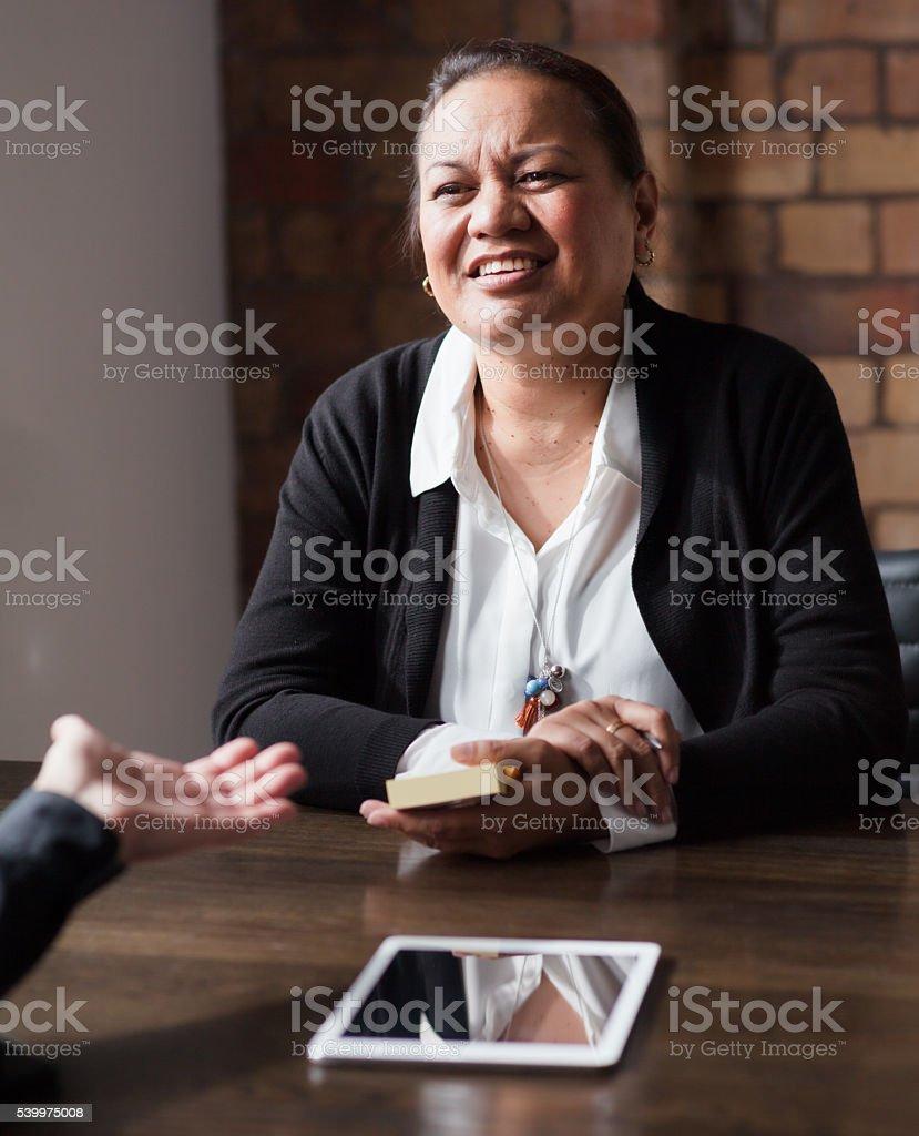 Pacific Island Business Woman stock photo