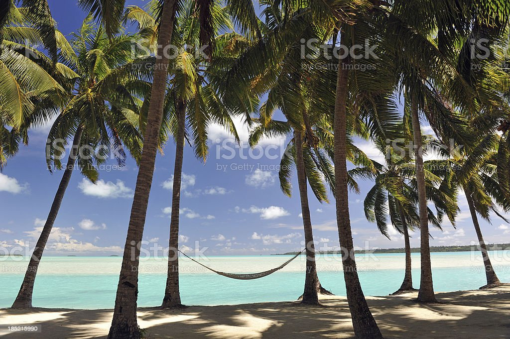 Pacific Island hammock royalty-free stock photo