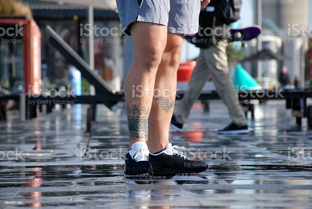 Pacific Lifestyle Legs in Urban Scene stock photo