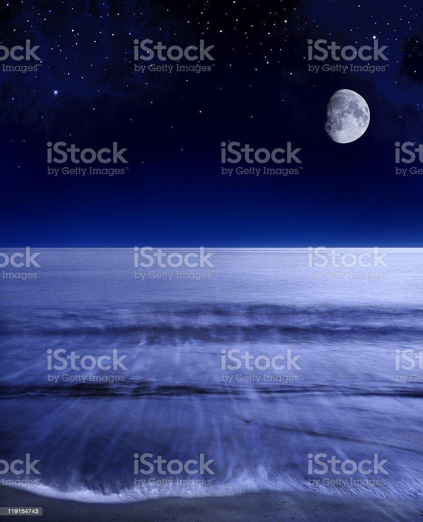 Pacific Moon stock photo