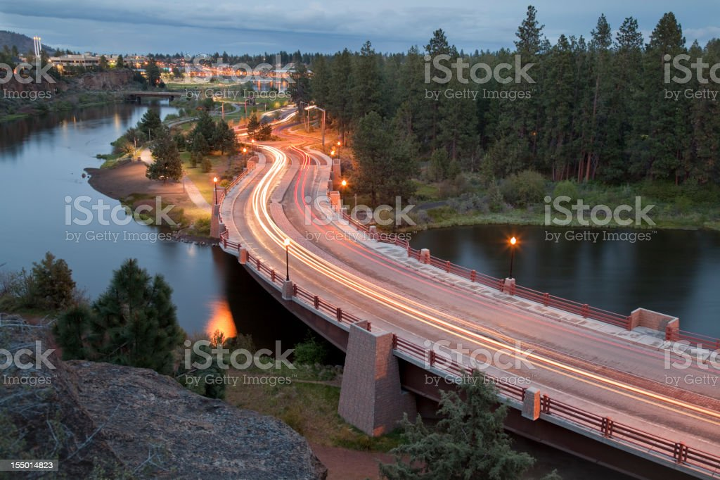 Pacific Northwest Evening Commute stock photo