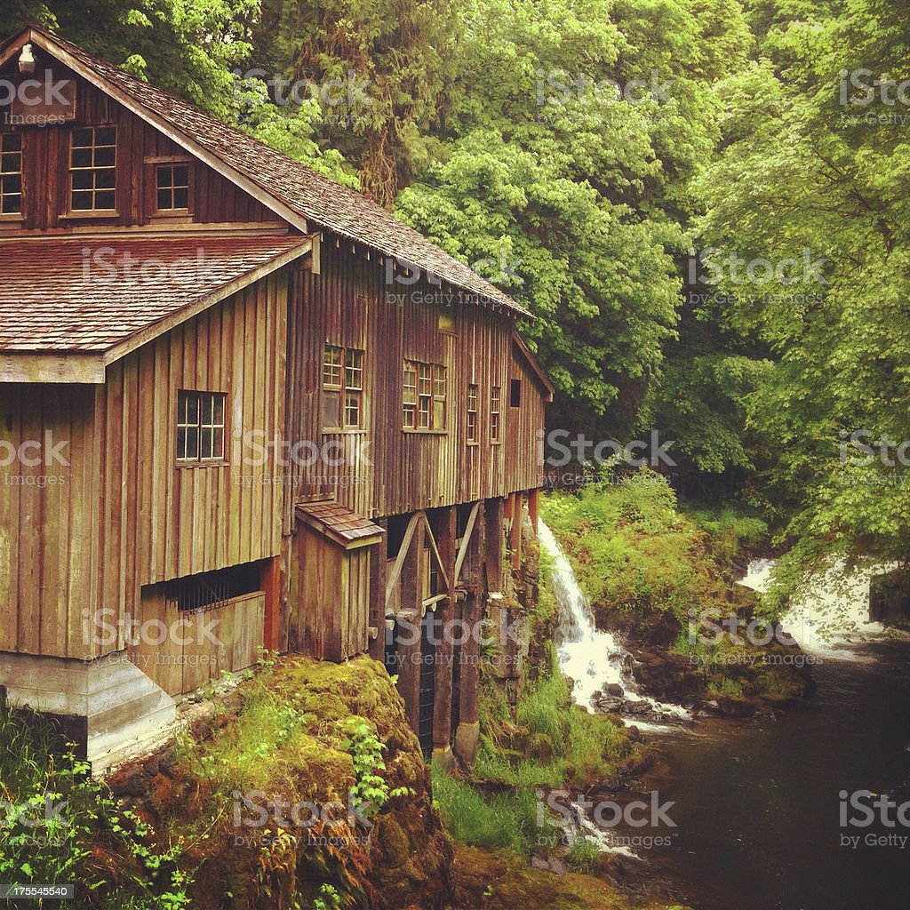 Pacific Northwest grist mill royalty-free stock photo
