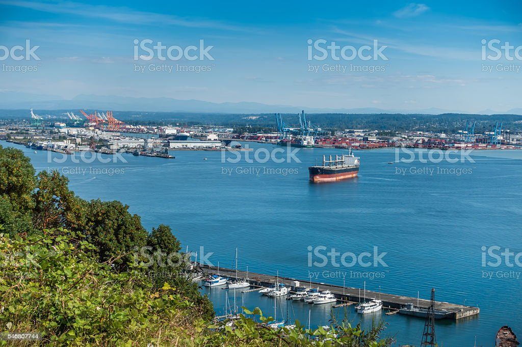 Pacific Northwest Seaport stock photo