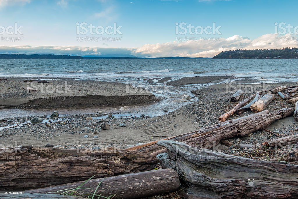 Pacific Northwest Seascape stock photo