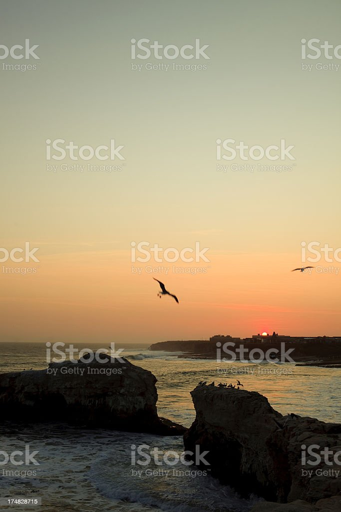 Pacific Ocean California Sunset royalty-free stock photo