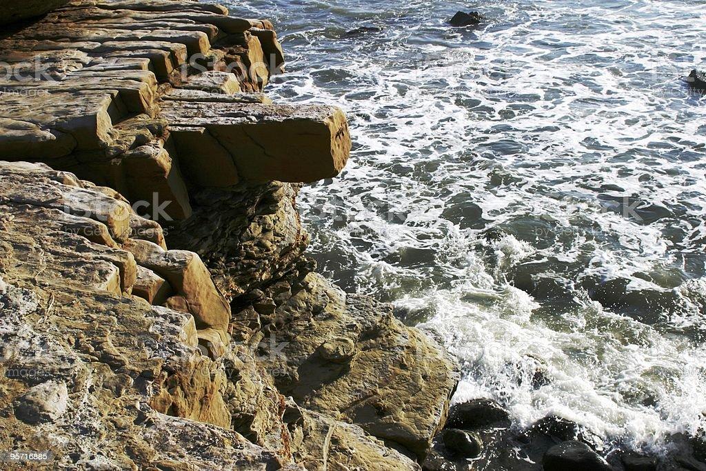 Oceano Pacifico Cliff foto stock royalty-free