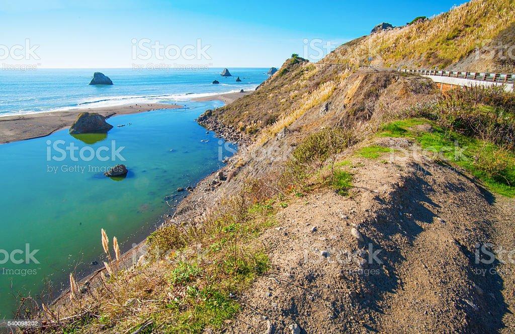 Pacific Ocean coast, California, USA stock photo