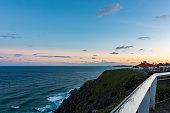Pacific Ocean from Cape Byron in Australia at sunset