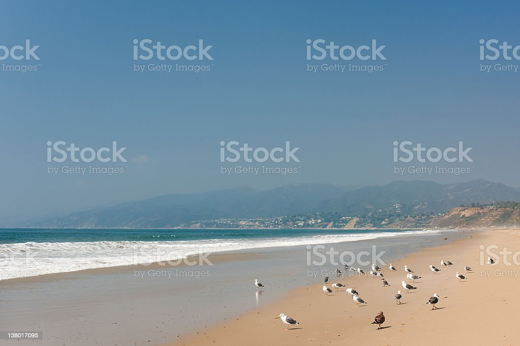 Pacific Ocean in Santa Monica royalty-free stock photo
