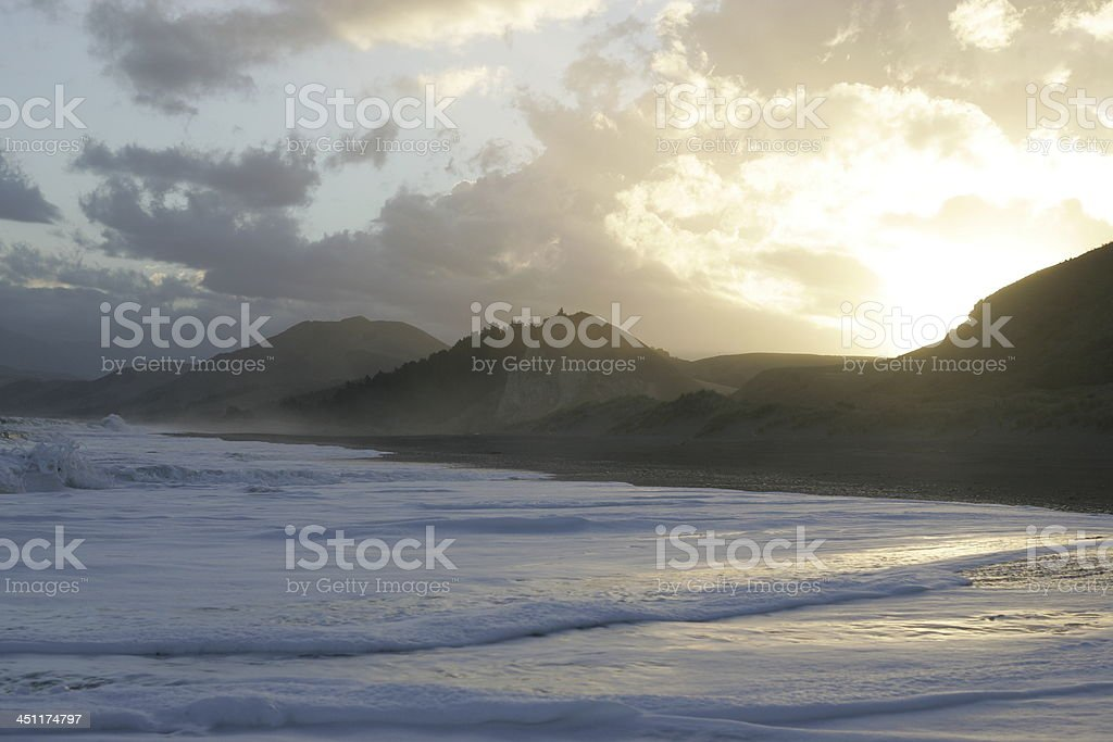Pacific Ocean near Kaikoura, New Zealand royalty-free stock photo