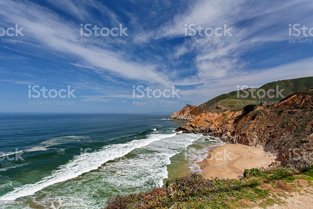 Pacific Ocean - nearby Monterey, California, USA stock photo