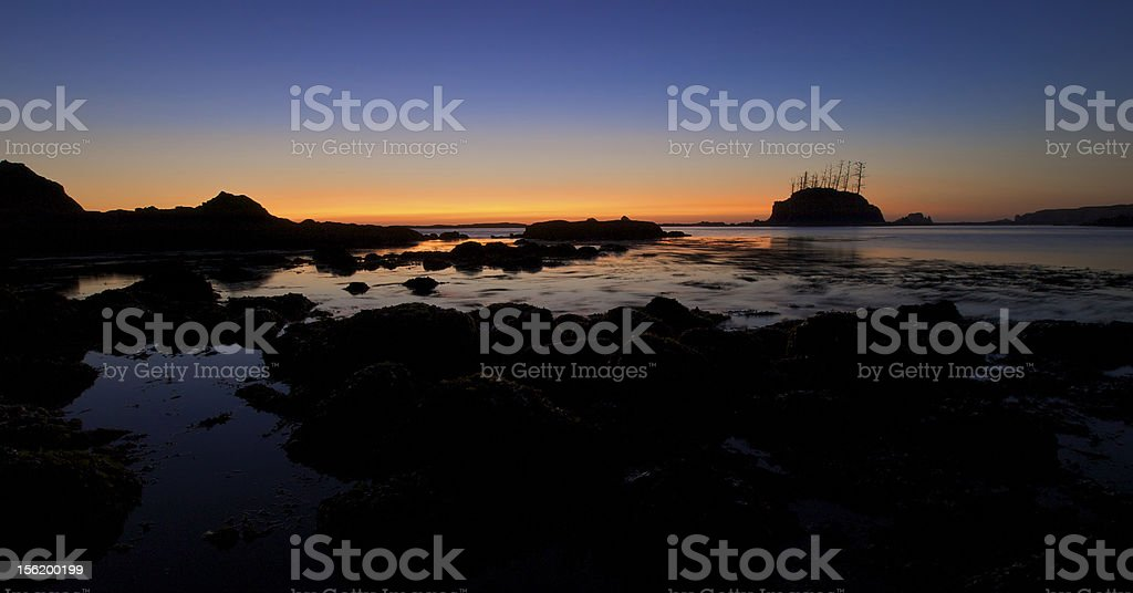 Pacific Ocean Sunset in Oregon royalty-free stock photo