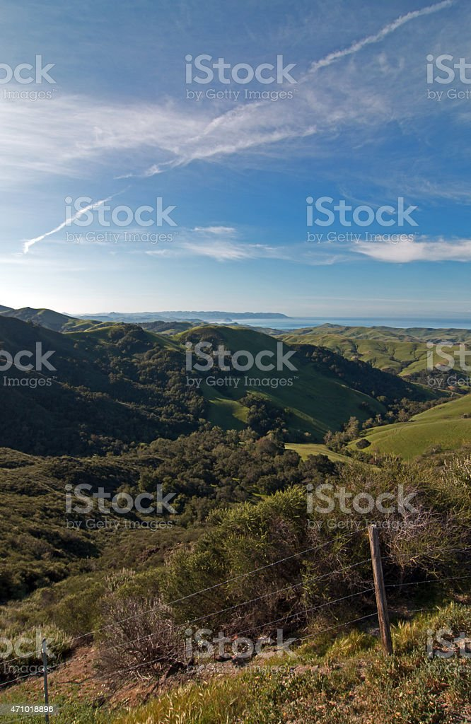 Pacific Ocean View from Paso Robles Pass stock photo