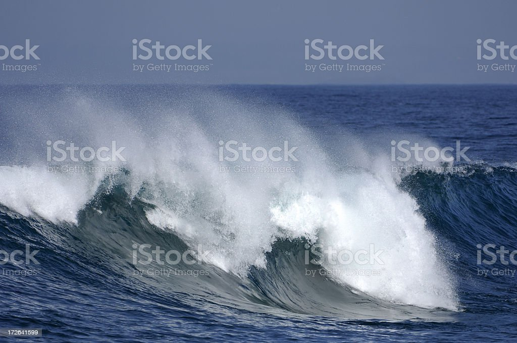 Pacific Ocean Wave Breaking royalty-free stock photo