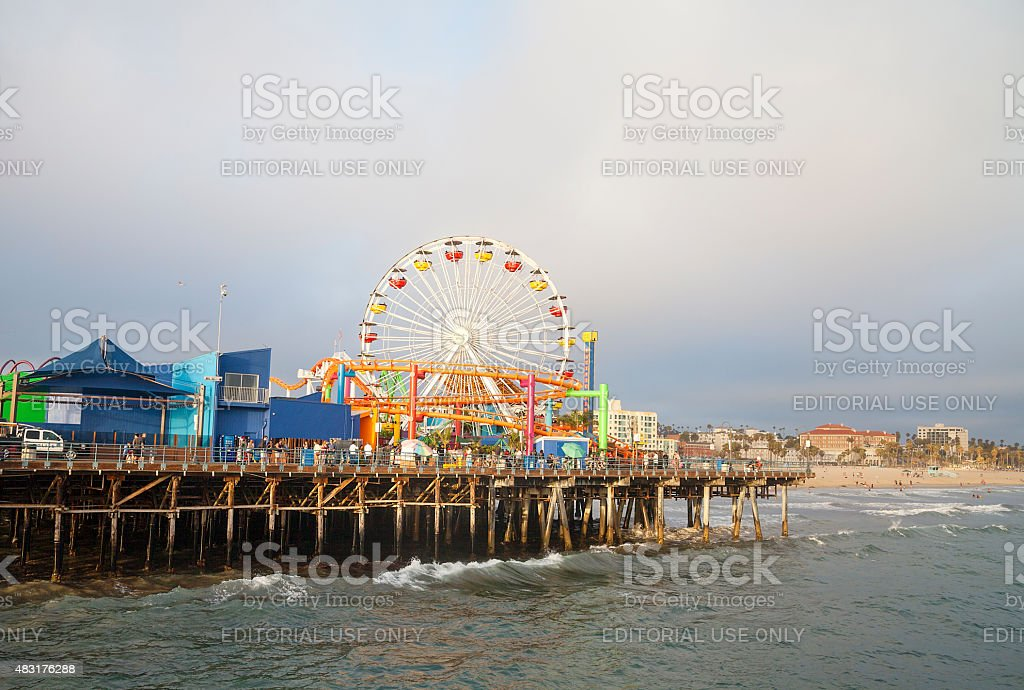 Pacific Park at Santa Monica stock photo