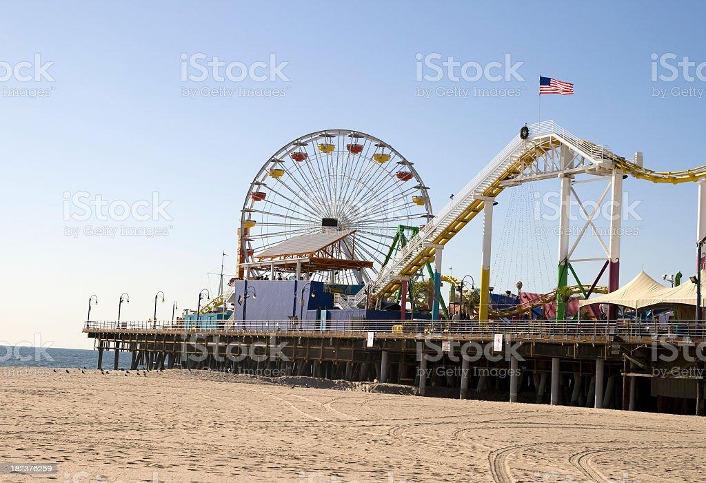 Pacific Park at Santa Monica Pier royalty-free stock photo