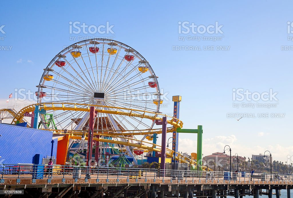 Pacific Park at Santa Monica pier stock photo