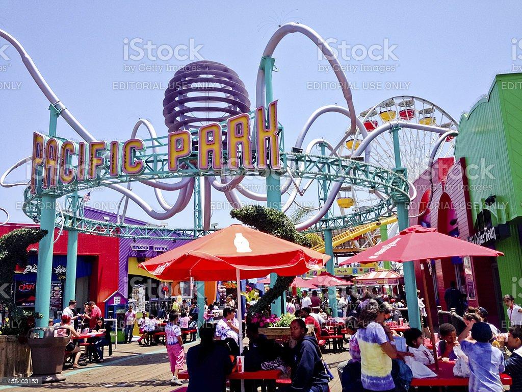 Pacific Park on Santa Monica Pier stock photo