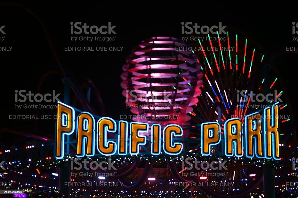 Pacific Park Santa Monica stock photo