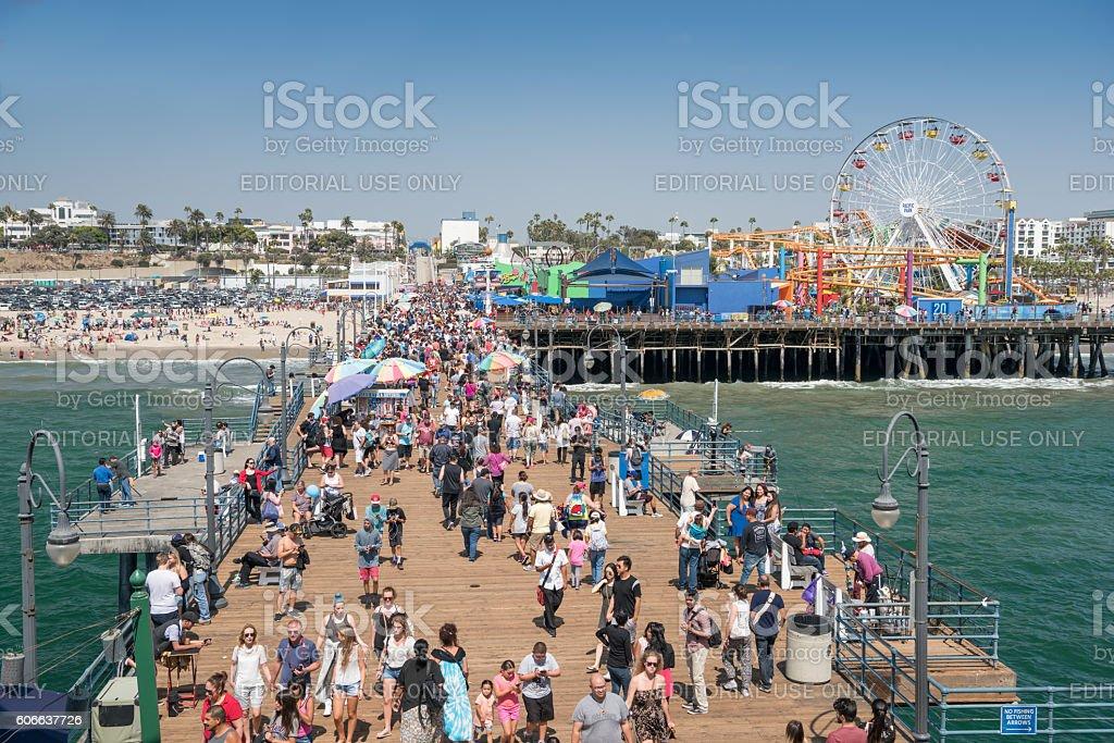 Pacific Park, Santa Monica Pier, Los Angeles, California stock photo