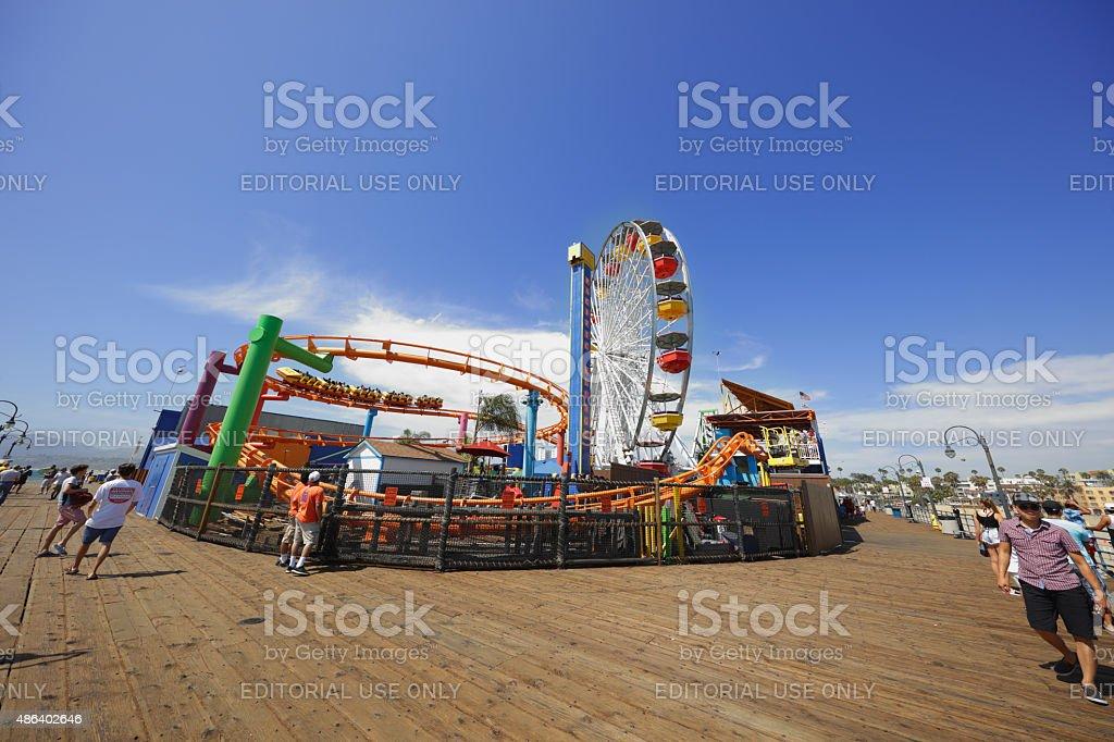 Pacific Park Santa Monica Pier stock photo