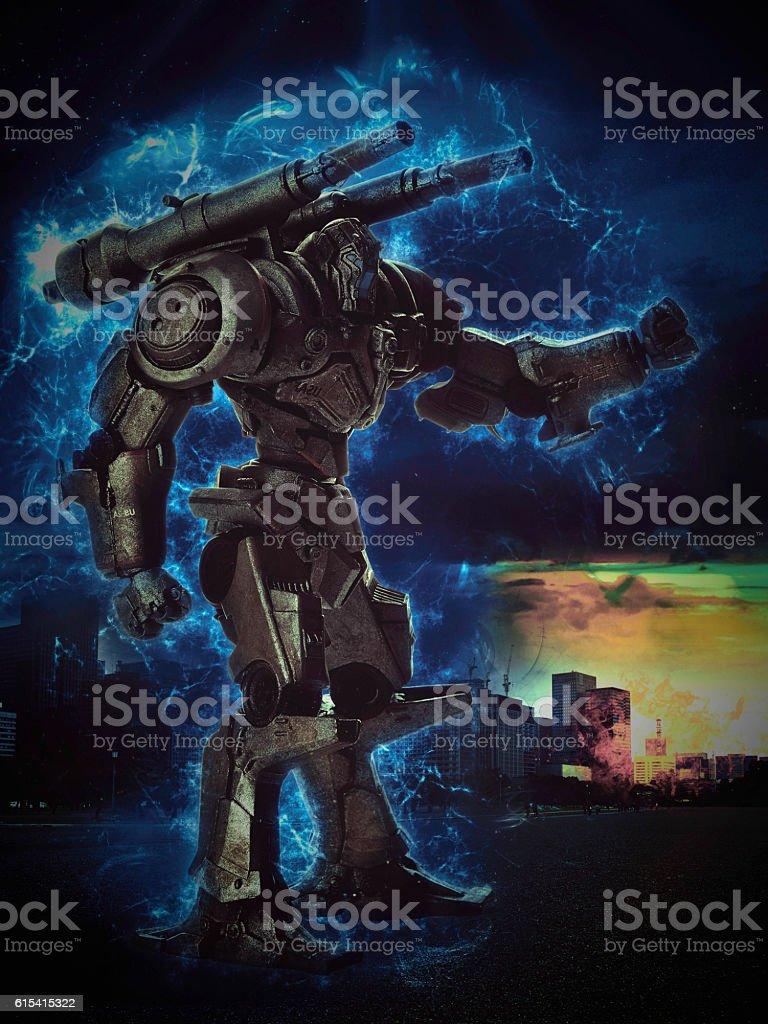 pacific rim robot stock photo