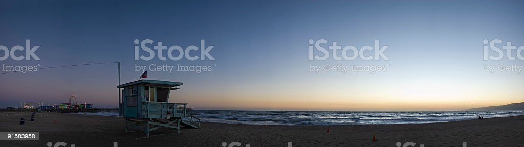 Pacific shore sunset royalty-free stock photo