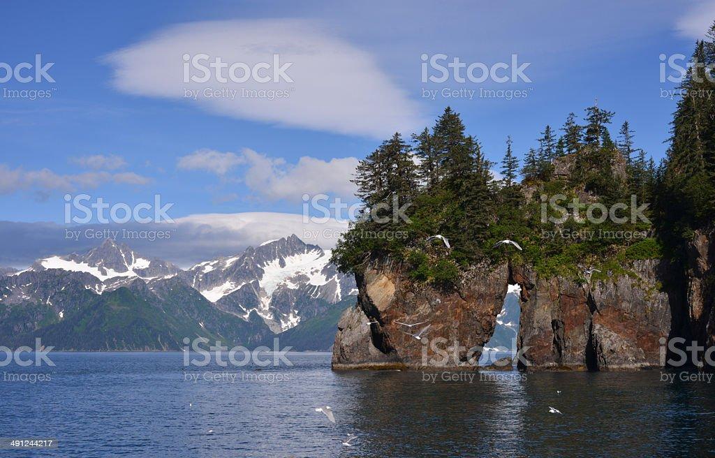 Pacific shores, Alaska stock photo