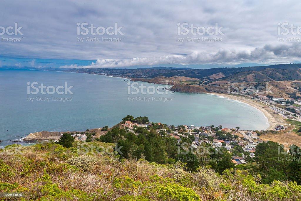 Pacific State Beach near San Francisco stock photo