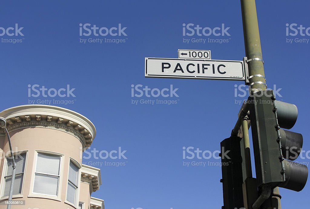 Pacific Street in San Francisco, California royalty-free stock photo