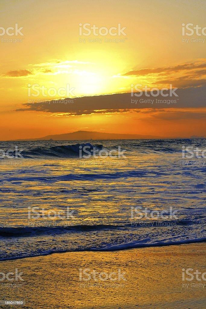 太平洋の夕日 ロイヤリティフリーストックフォト