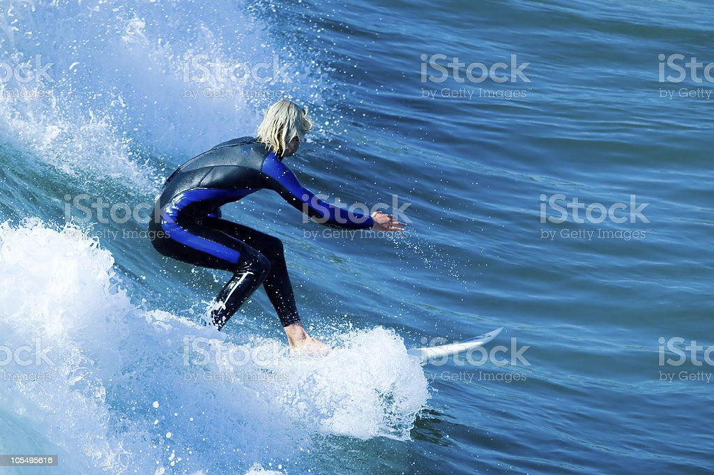 Pacific Surfer stock photo