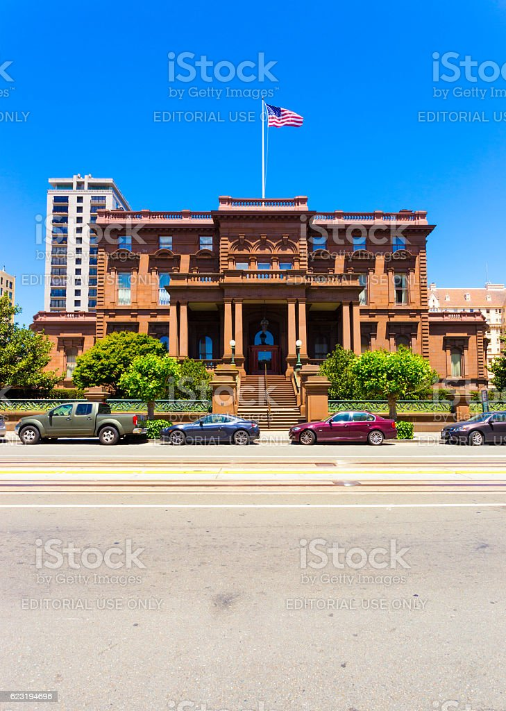 Pacific-Union Club Nob Hill San Francisco V stock photo