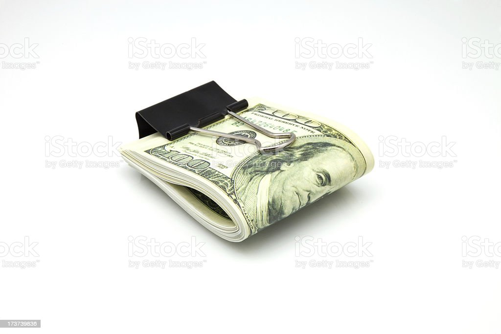 pack dollars isolated royalty-free stock photo