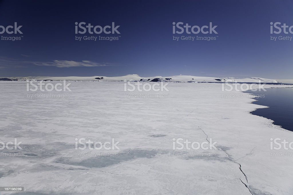 pack ice antarctica stock photo