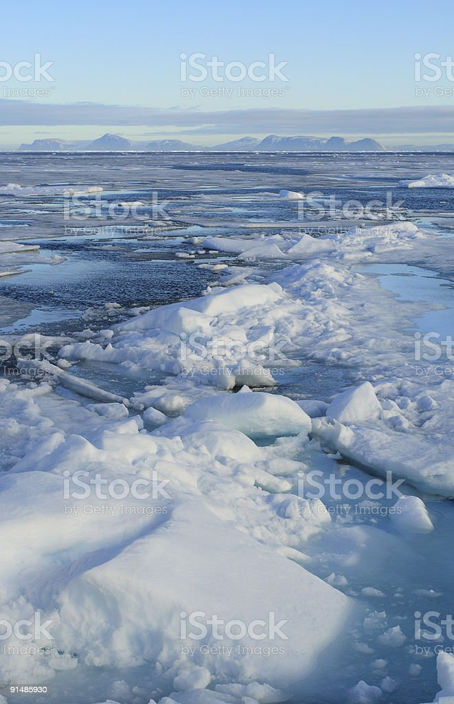 Pack Ice royalty-free stock photo