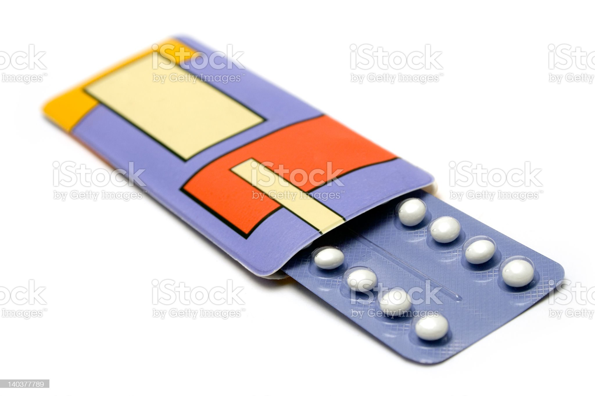 Pack of Birth Control Pills royalty-free stock photo