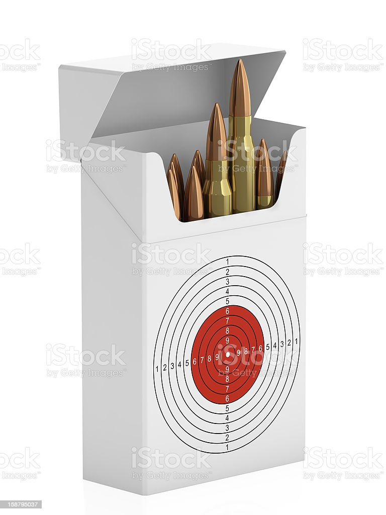Pack of bullets royalty-free stock photo