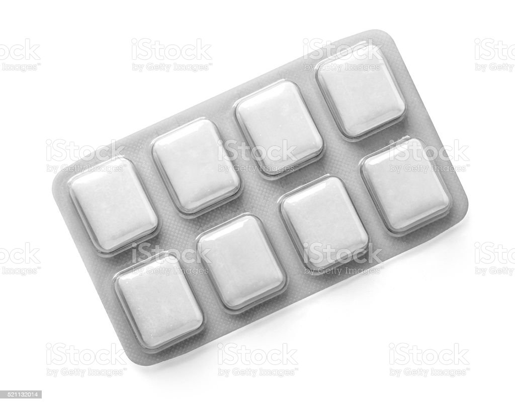 Pack of Chewing Gum stock photo
