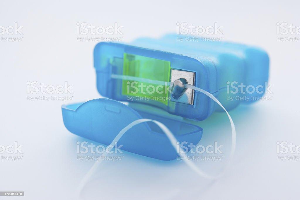 Pack of dental floss stock photo