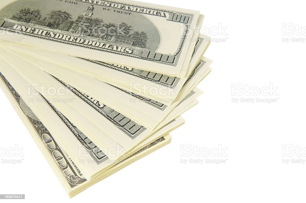 pack of dollars royalty-free stock photo