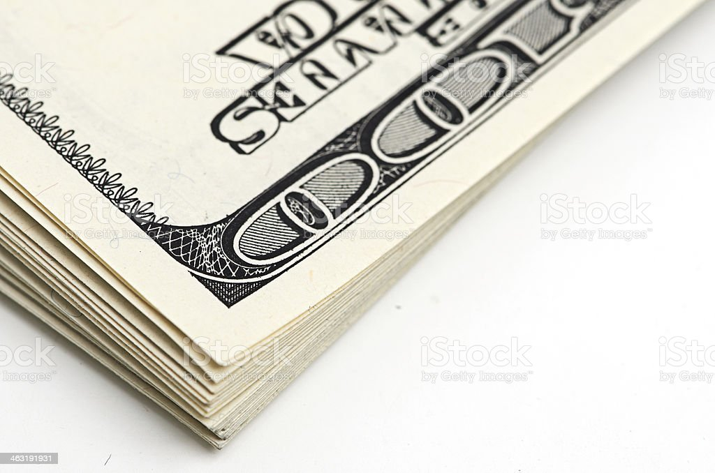 pack of dollars. stock photo