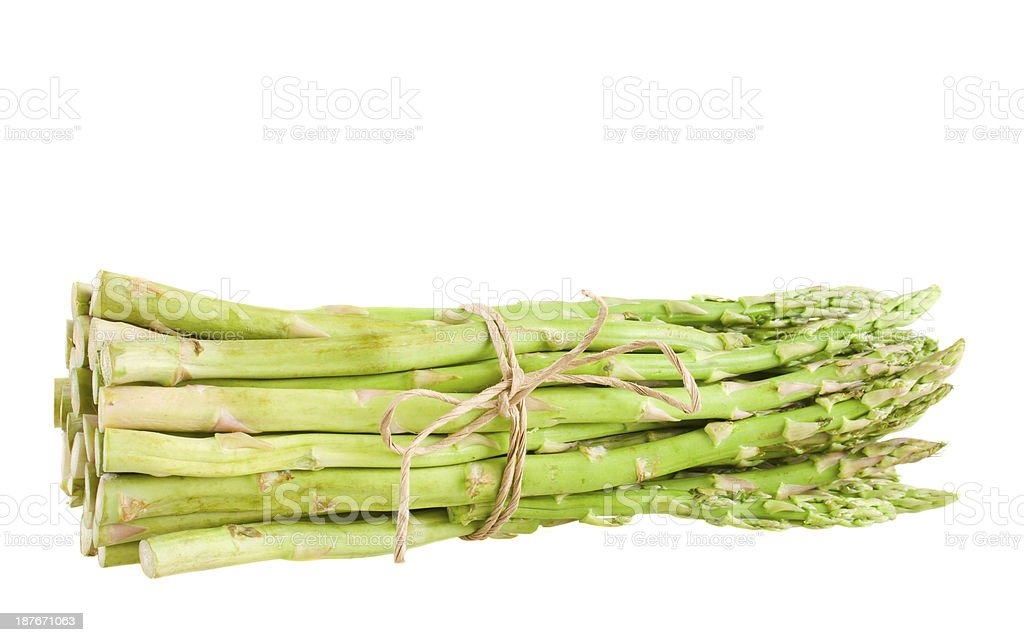 pack of green asparagus sprouts royalty-free stock photo